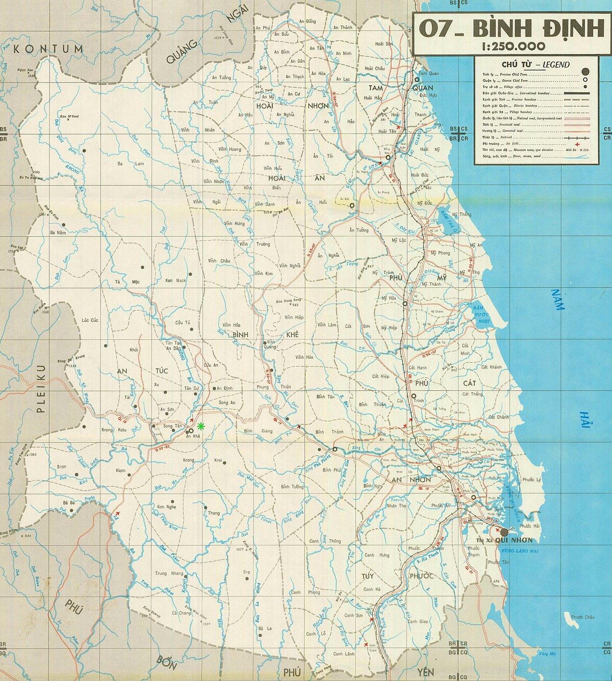 Lai Khe Vietnam Map.Viet Map 12 Vietnam War An Khe Hon Cong Mountain