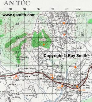 Lai Khe Vietnam Map.Maps Vietnam War An Khe Hon Cong Mountain