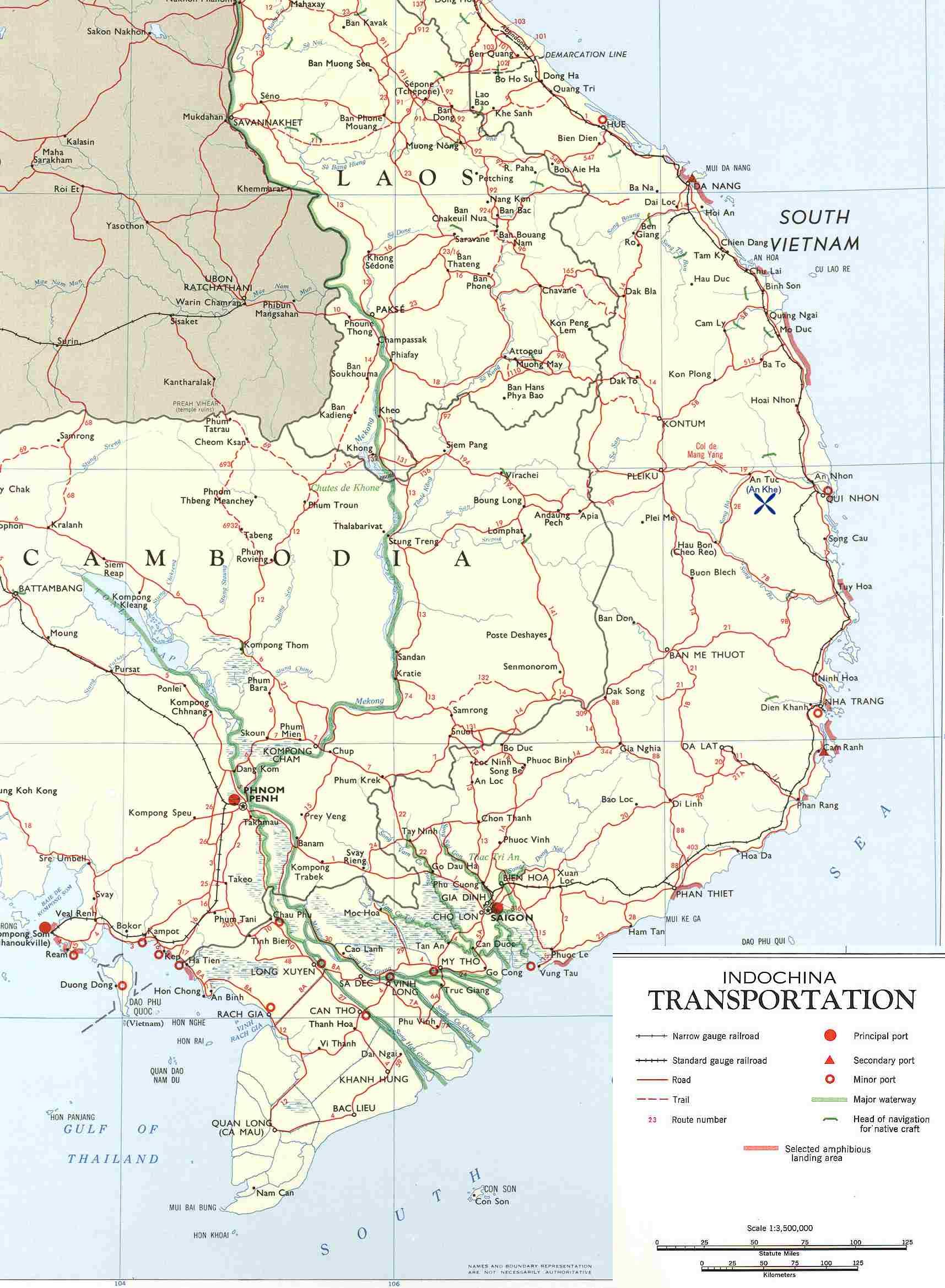 Viet Map 4 - Vietnam War / An Khe / Hon Cong Mountain