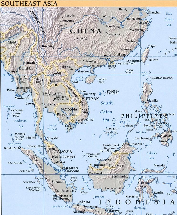 Map Of Asia Vietnam War.Viet Map 9 Vietnam War An Khe Hon Cong Mountain